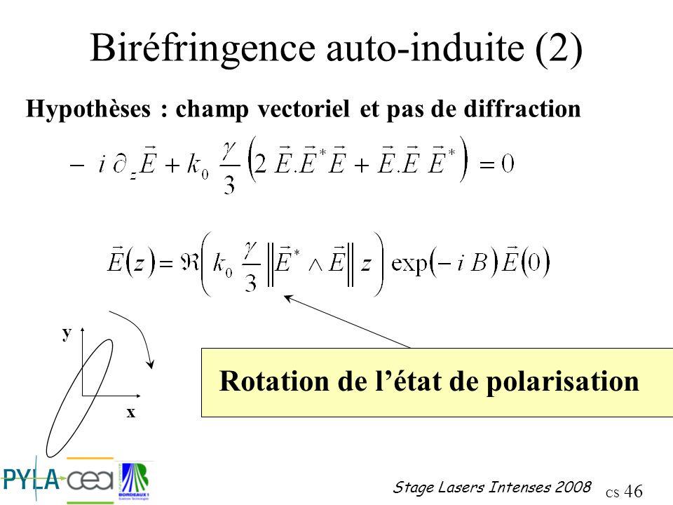 Biréfringence auto-induite (2)