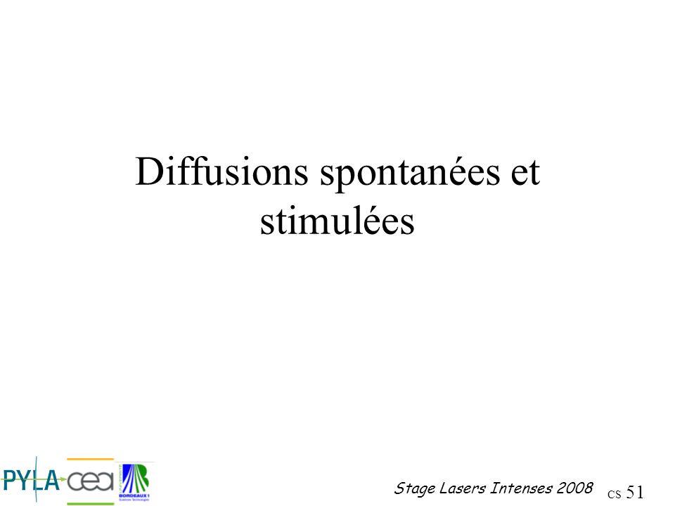 Diffusions spontanées et stimulées