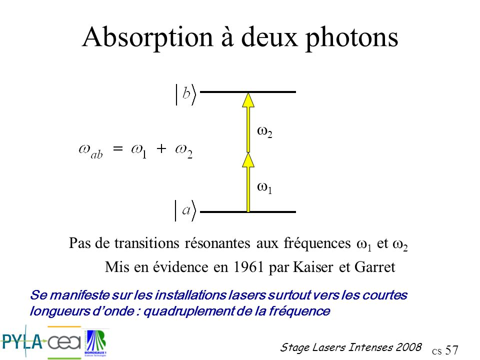 Absorption à deux photons