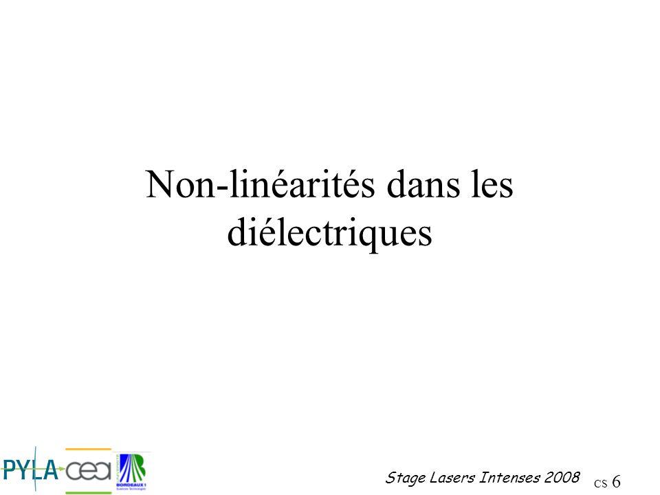 Non-linéarités dans les diélectriques