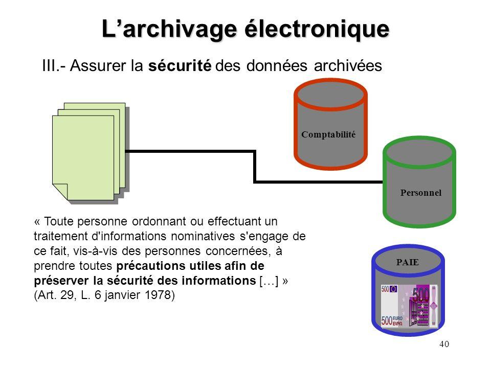 L'archivage électronique
