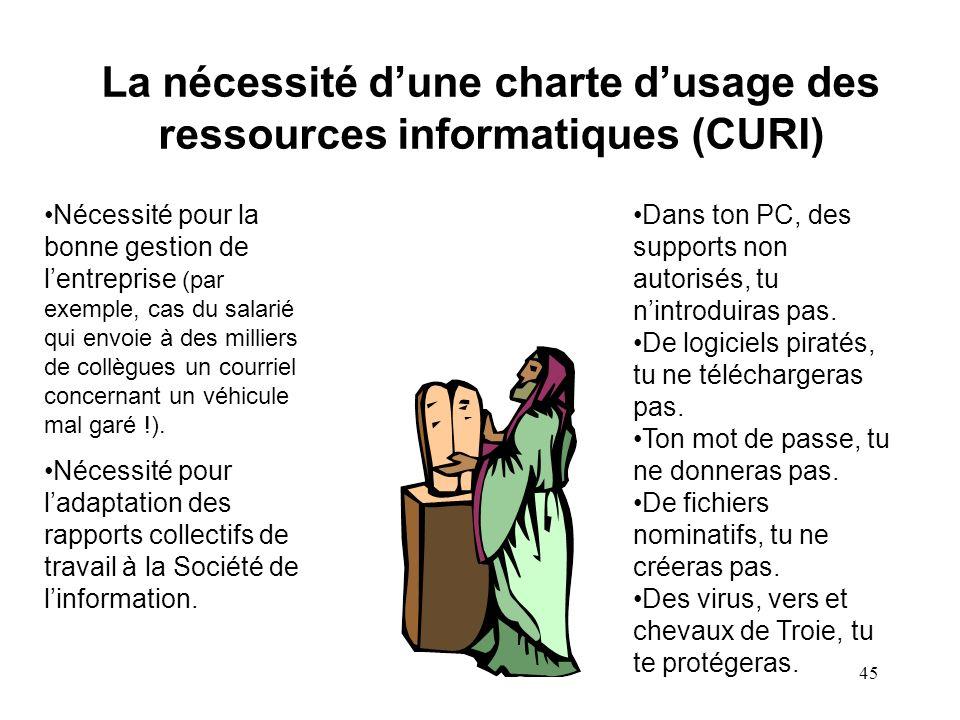 La nécessité d'une charte d'usage des ressources informatiques (CURI)