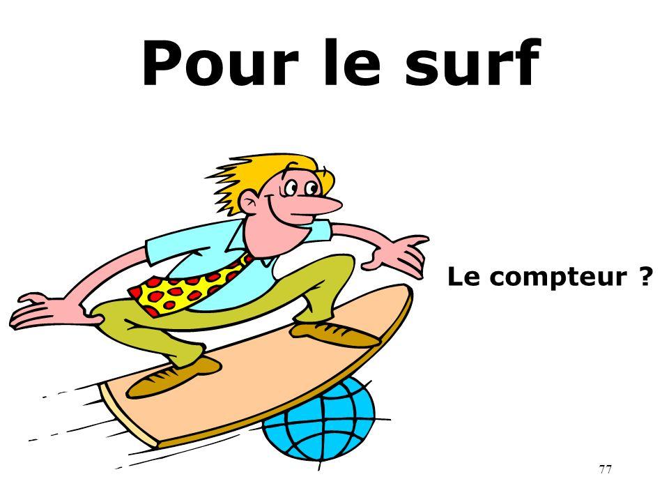 Pour le surf Le compteur