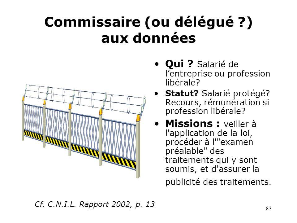 Commissaire (ou délégué ) aux données
