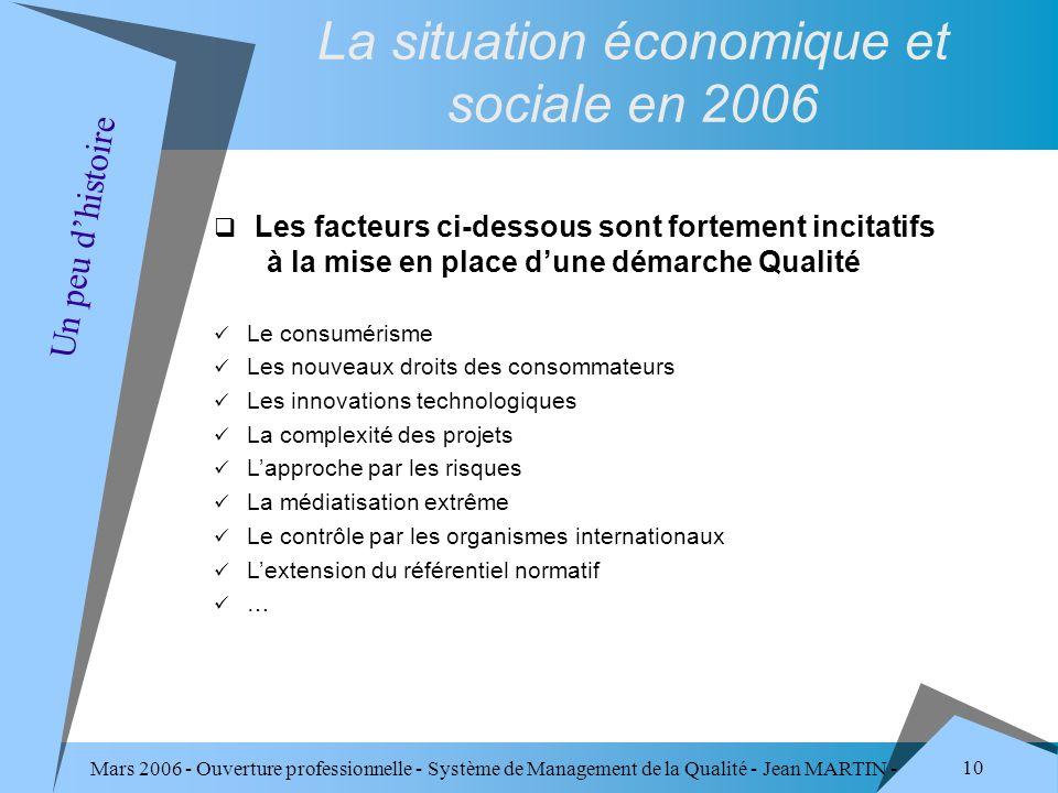 La situation économique et sociale en 2006