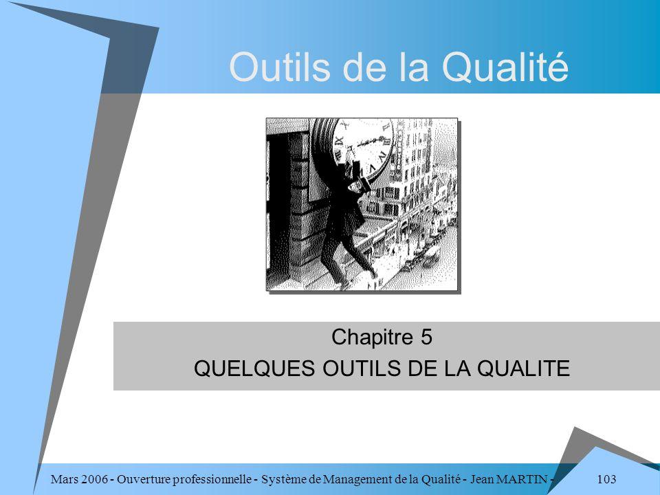 Chapitre 5 QUELQUES OUTILS DE LA QUALITE