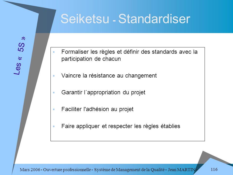 Seiketsu - Standardiser