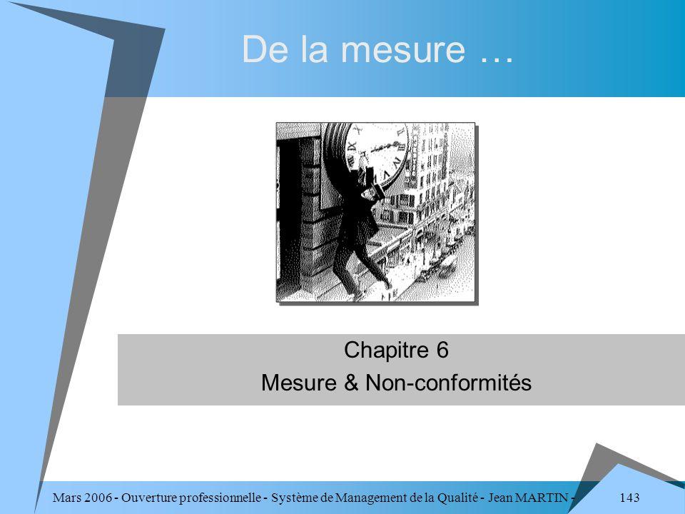 Chapitre 6 Mesure & Non-conformités