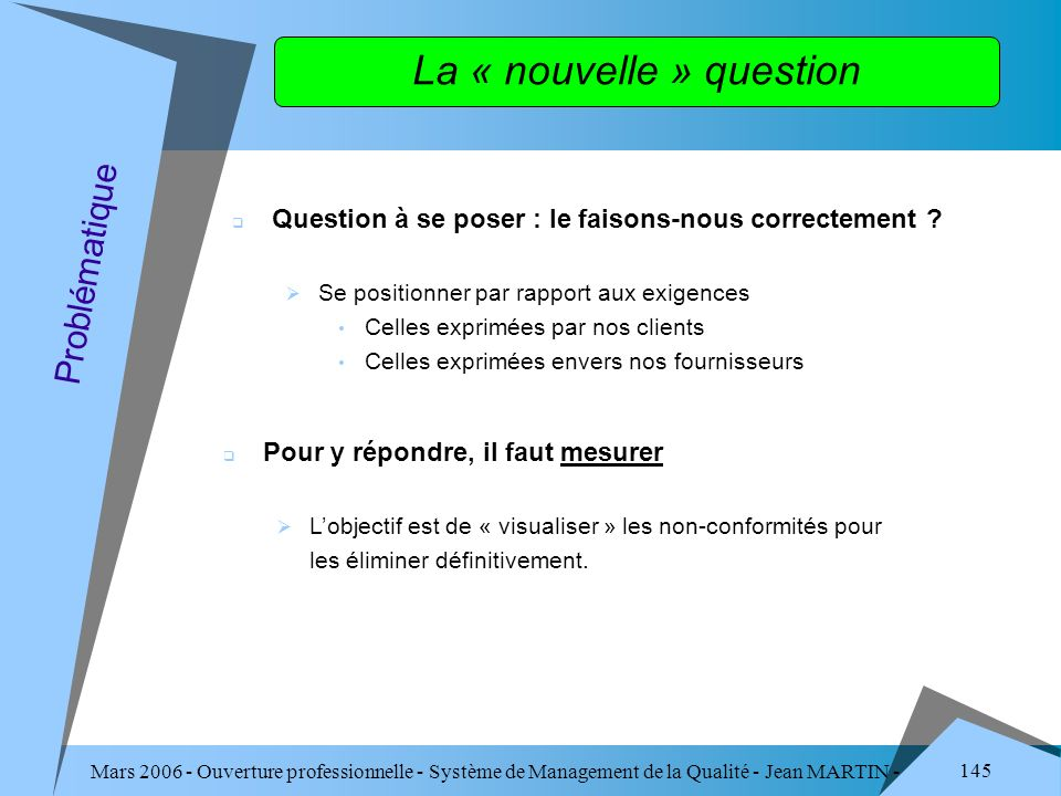 La « nouvelle » question
