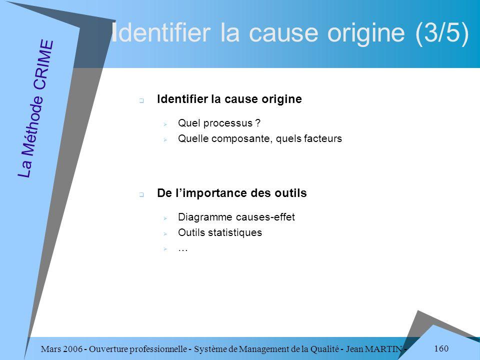 Identifier la cause origine (3/5)