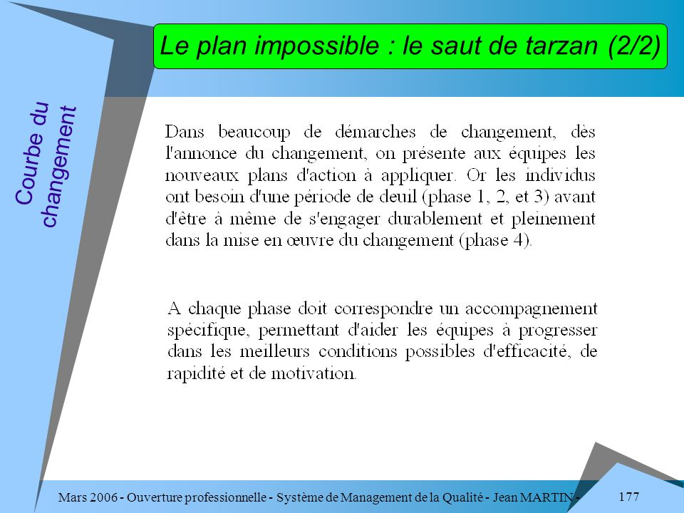 Le plan impossible : le saut de tarzan (2/2)