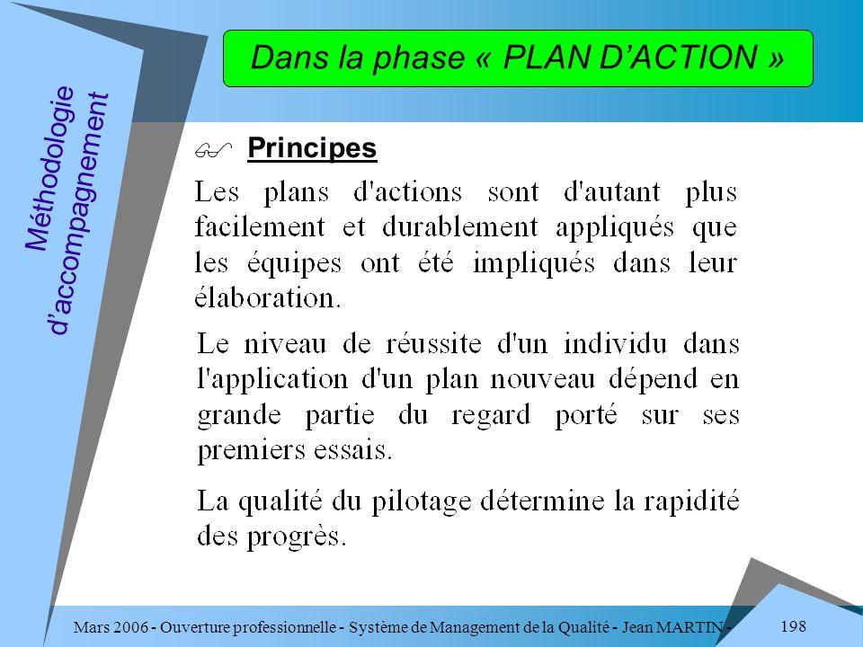 Dans la phase « PLAN D'ACTION »