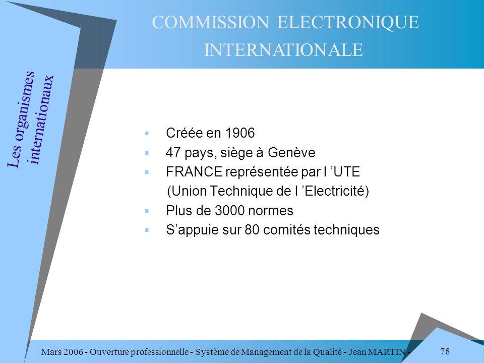 COMMISSION ELECTRONIQUE