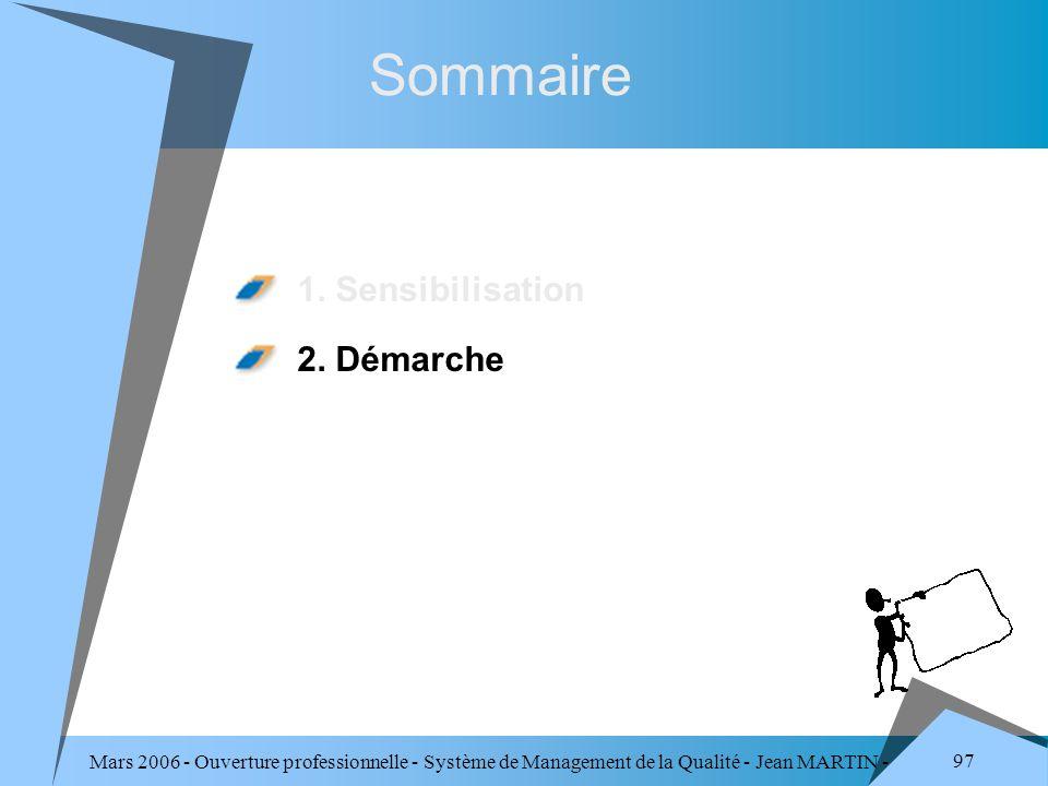 Sommaire 1. Sensibilisation 2. Démarche
