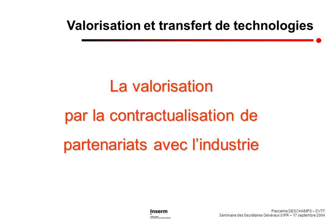 par la contractualisation de partenariats avec l'industrie