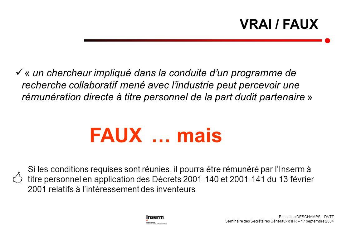 VRAI / FAUX