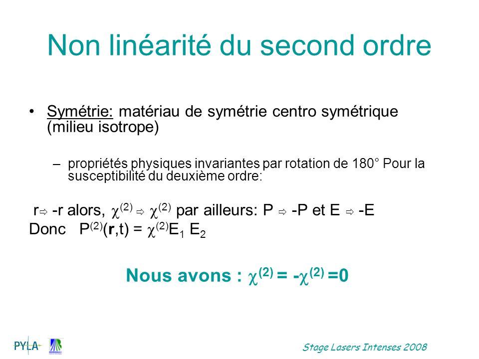 Non linéarité du second ordre