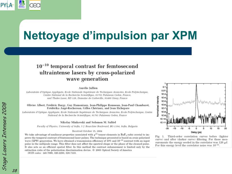 Nettoyage d'impulsion par XPM