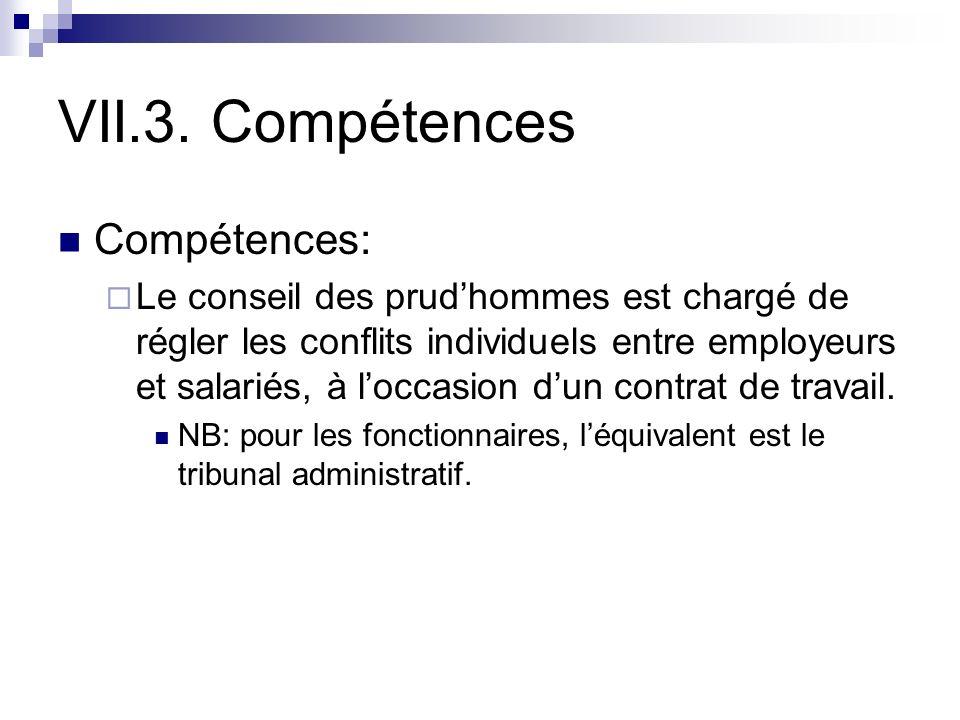VII.3. Compétences Compétences: