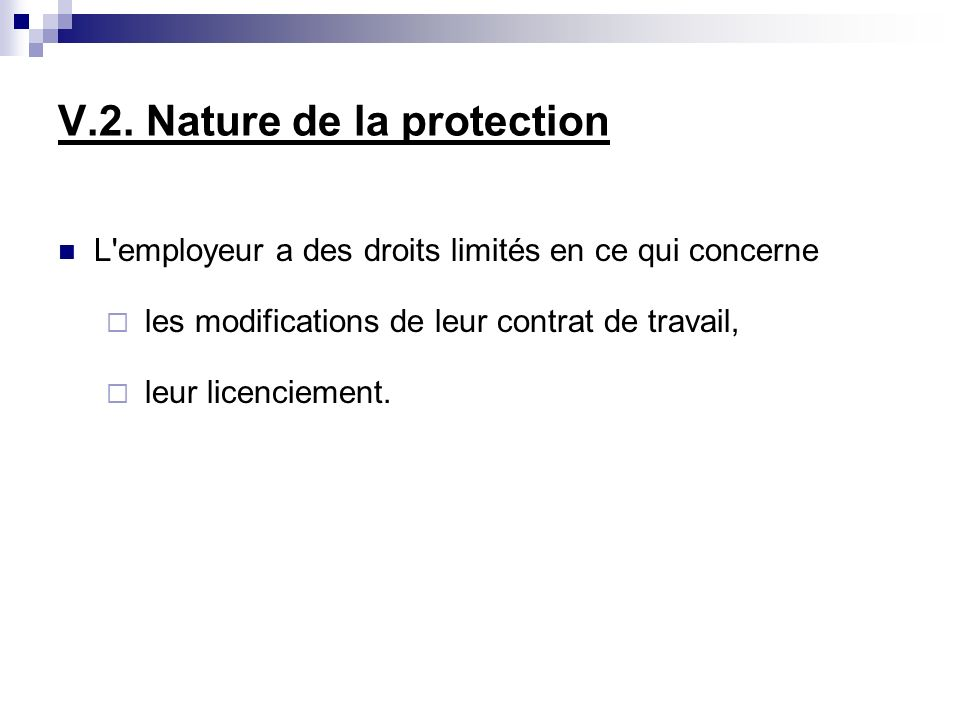V.2. Nature de la protection