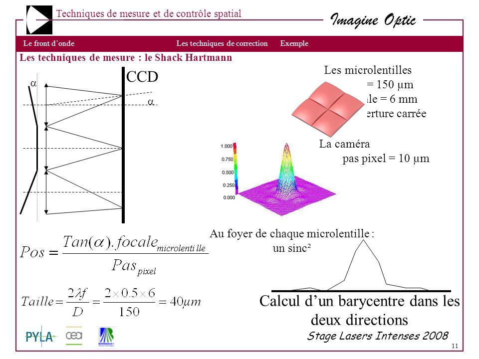 Calcul d'un barycentre dans les deux directions