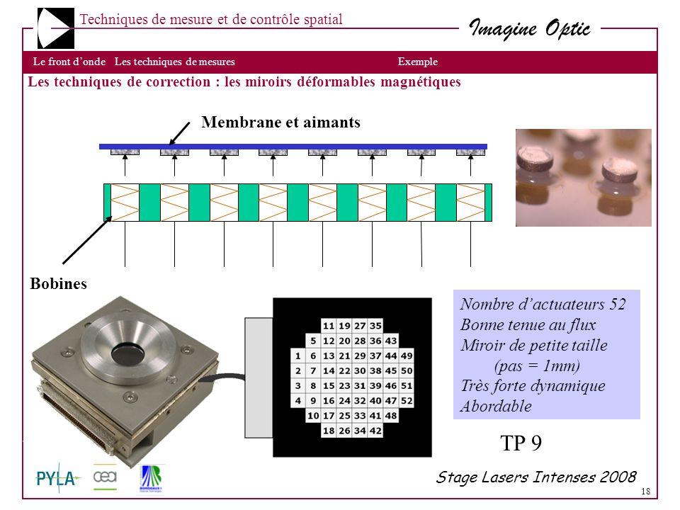 TP 9 Membrane et aimants Bobines Nombre d'actuateurs 52