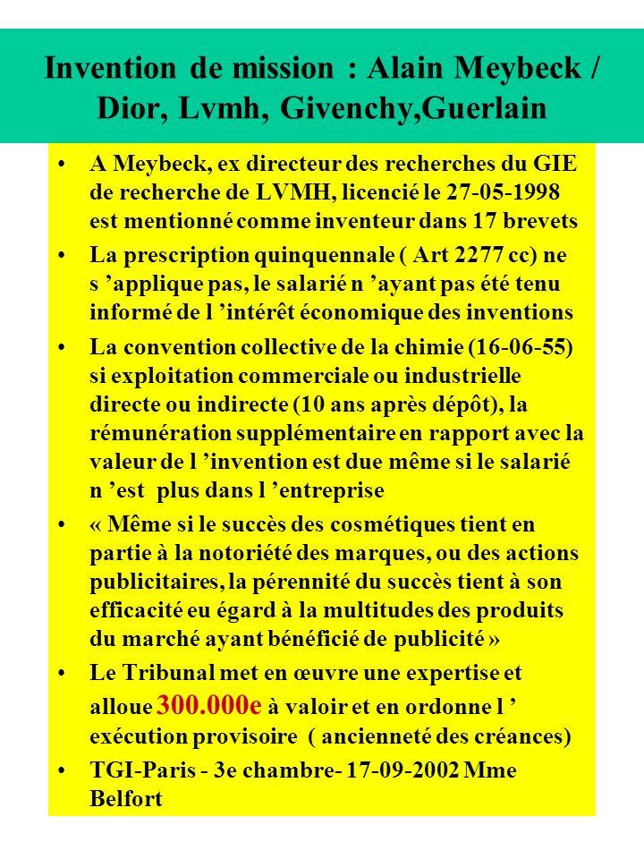 Invention de mission : Alain Meybeck / Dior, Lvmh, Givenchy,Guerlain