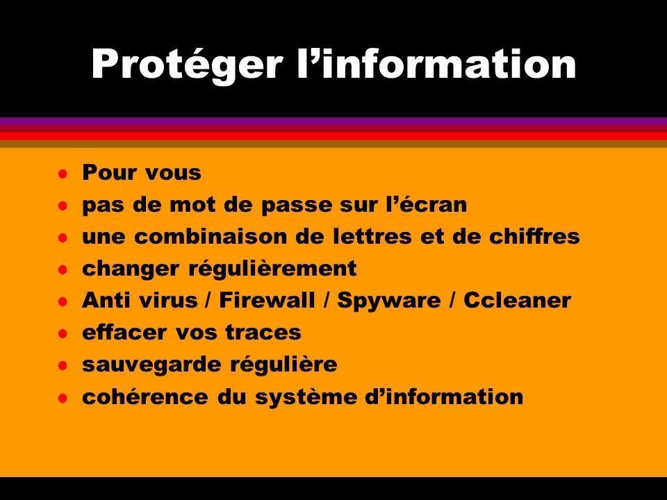 Protéger l'information