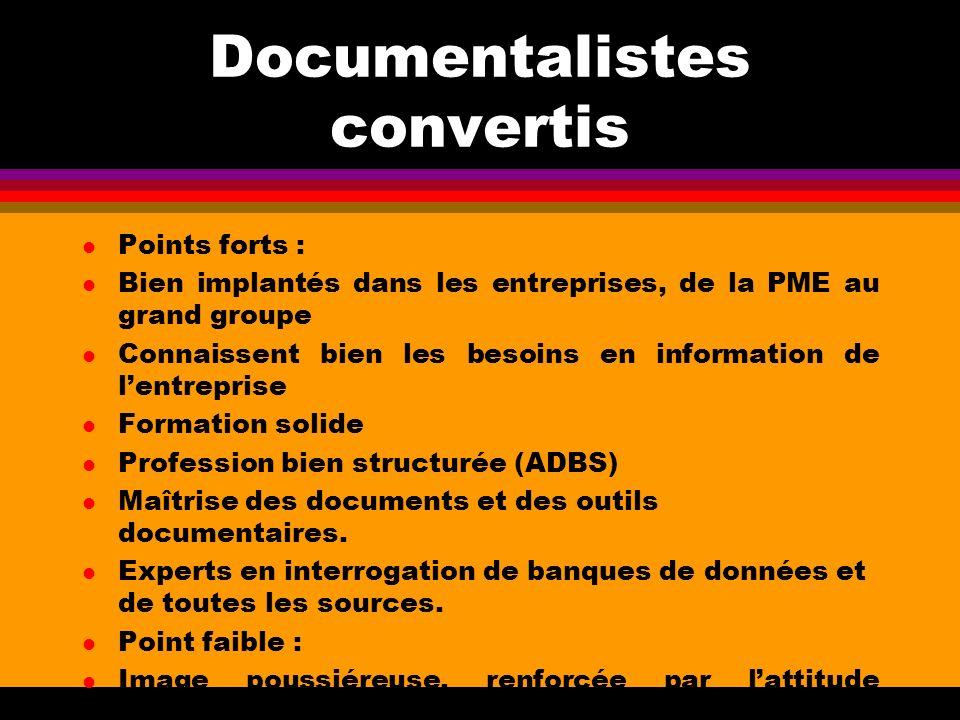Documentalistes convertis