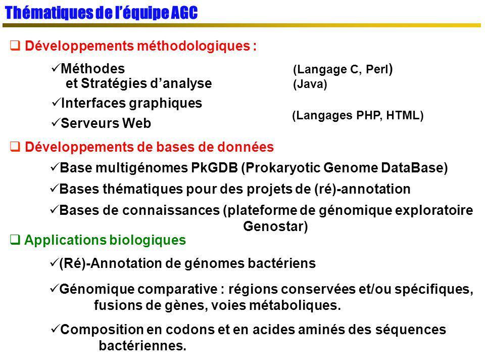 Thématiques de l'équipe AGC