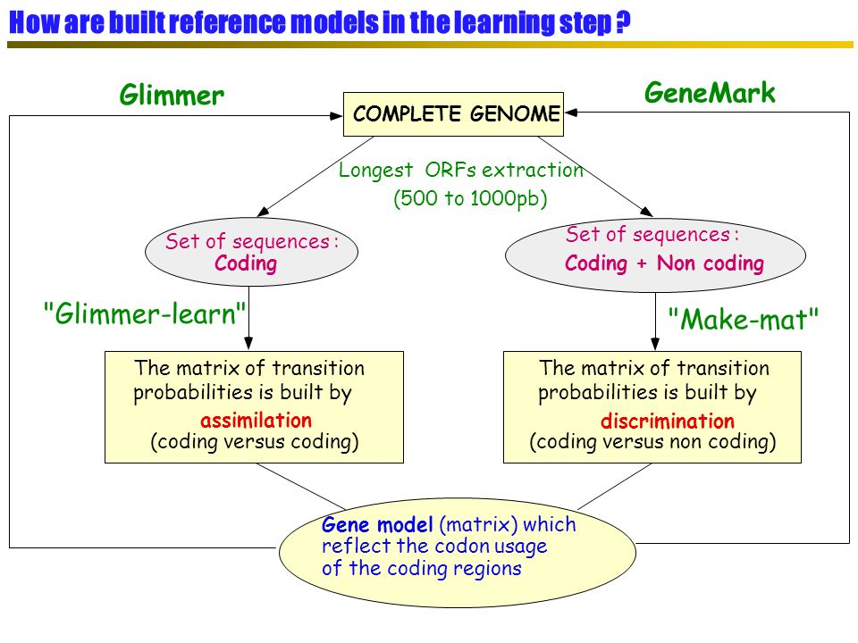 How are built reference models in the learning step