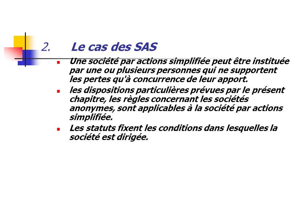 2. Le cas des SAS
