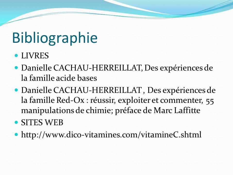 Bibliographie LIVRES. Danielle CACHAU-HERREILLAT, Des expériences de la famille acide bases.