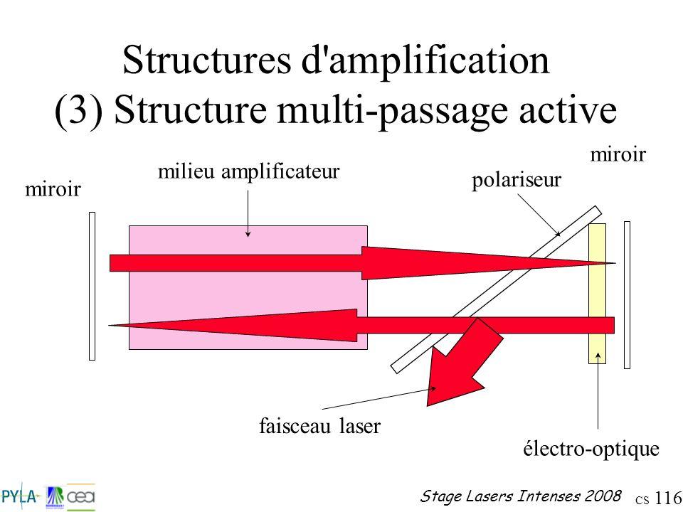 Structures d amplification (3) Structure multi-passage active