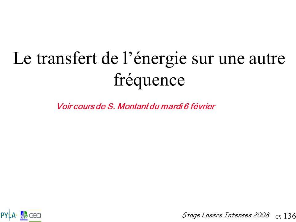 Le transfert de l'énergie sur une autre fréquence