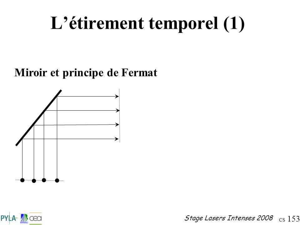 L'étirement temporel (1)