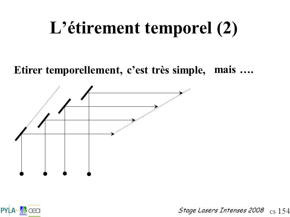 L'étirement temporel (2)