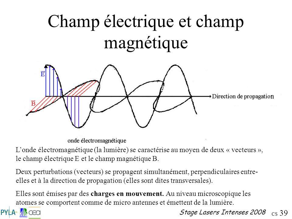 Champ électrique et champ magnétique