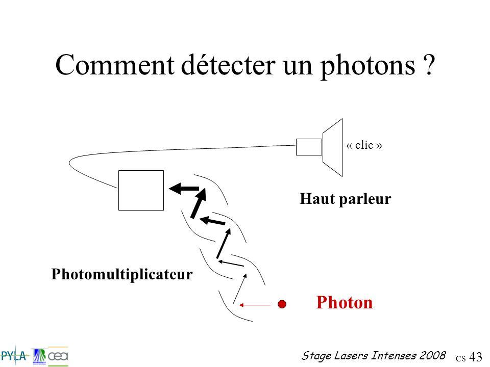 Comment détecter un photons