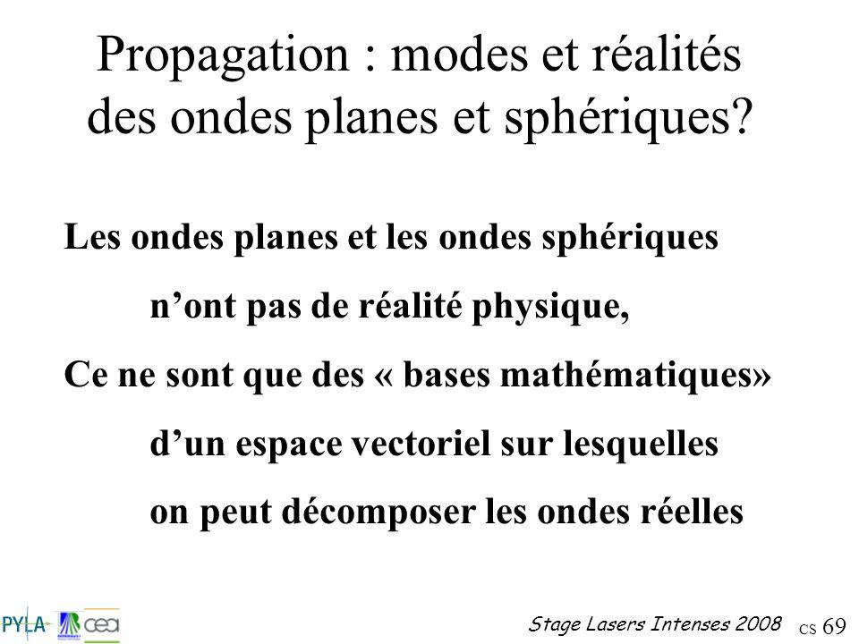 Propagation : modes et réalités des ondes planes et sphériques