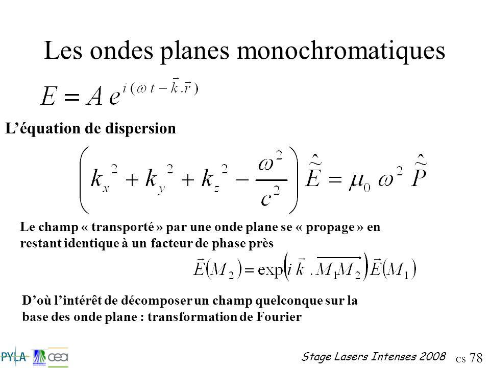 Les ondes planes monochromatiques