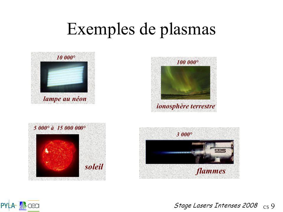 Exemples de plasmas