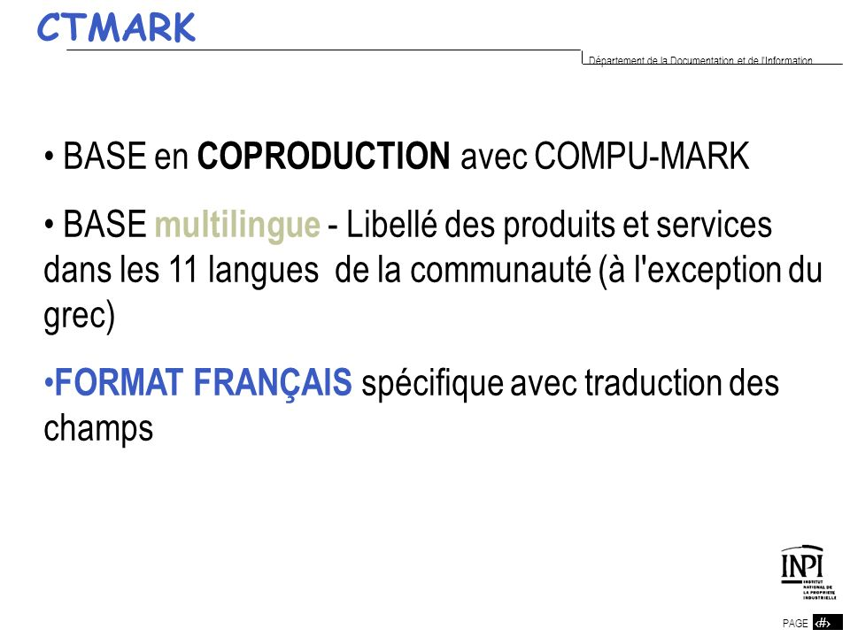CTMARK BASE en COPRODUCTION avec COMPU-MARK.
