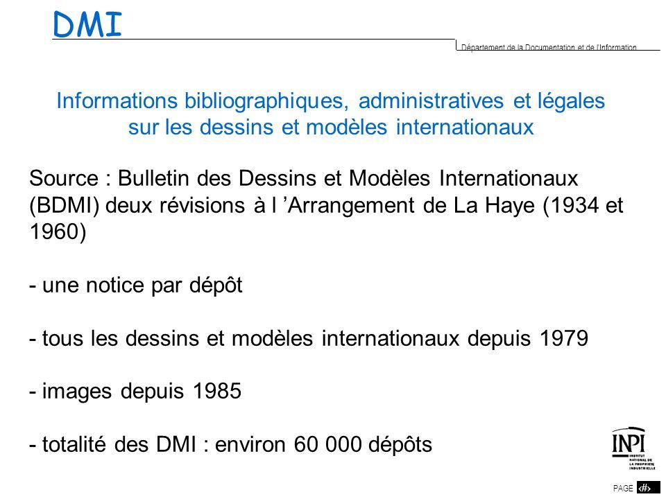 DMIInformations bibliographiques, administratives et légales sur les dessins et modèles internationaux.