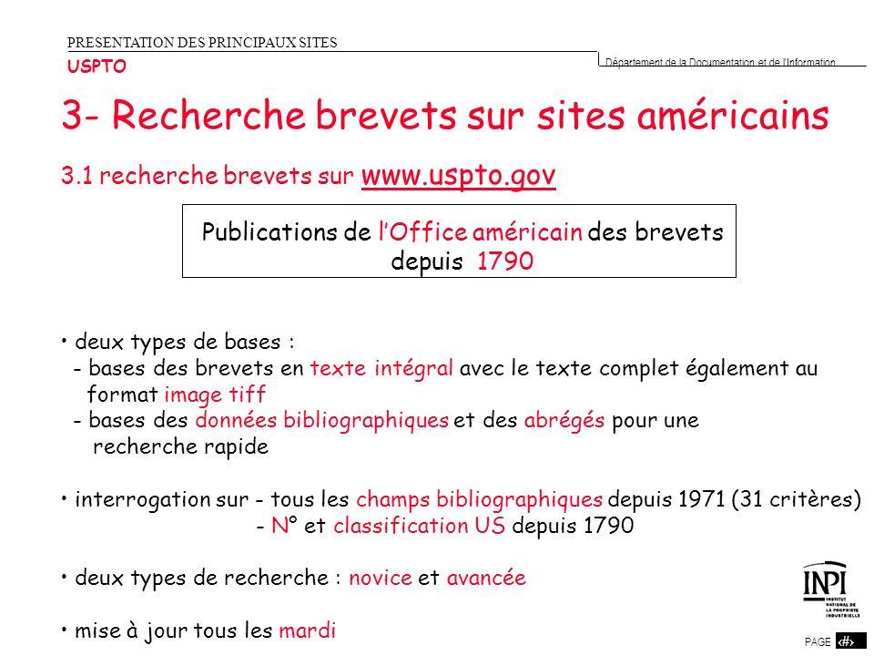 Publications de l'Office américain des brevets