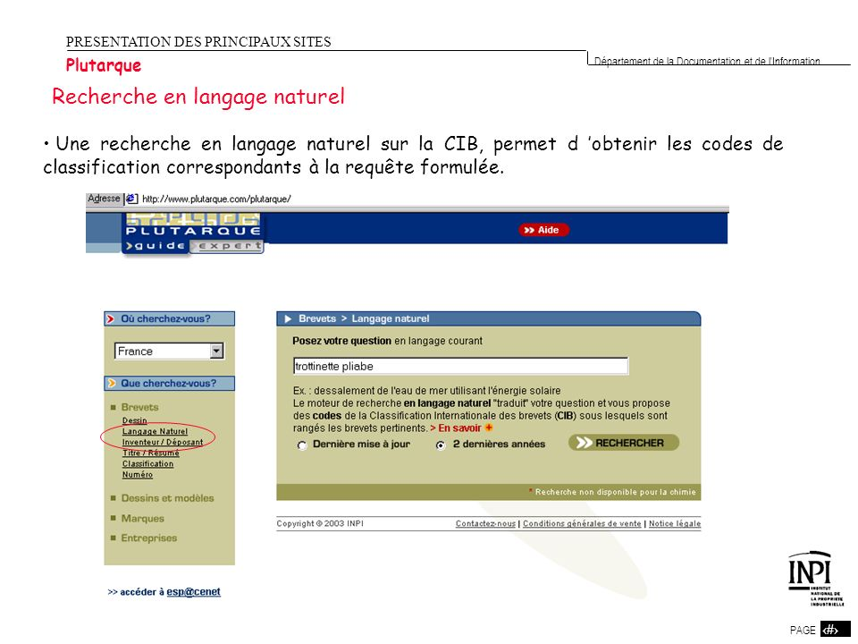 Recherche en langage naturel