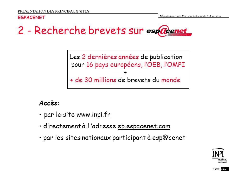 2 - Recherche brevets sur