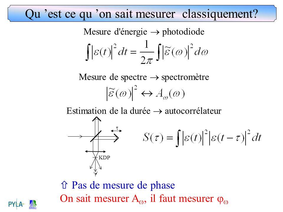 Qu 'est ce qu 'on sait mesurer classiquement