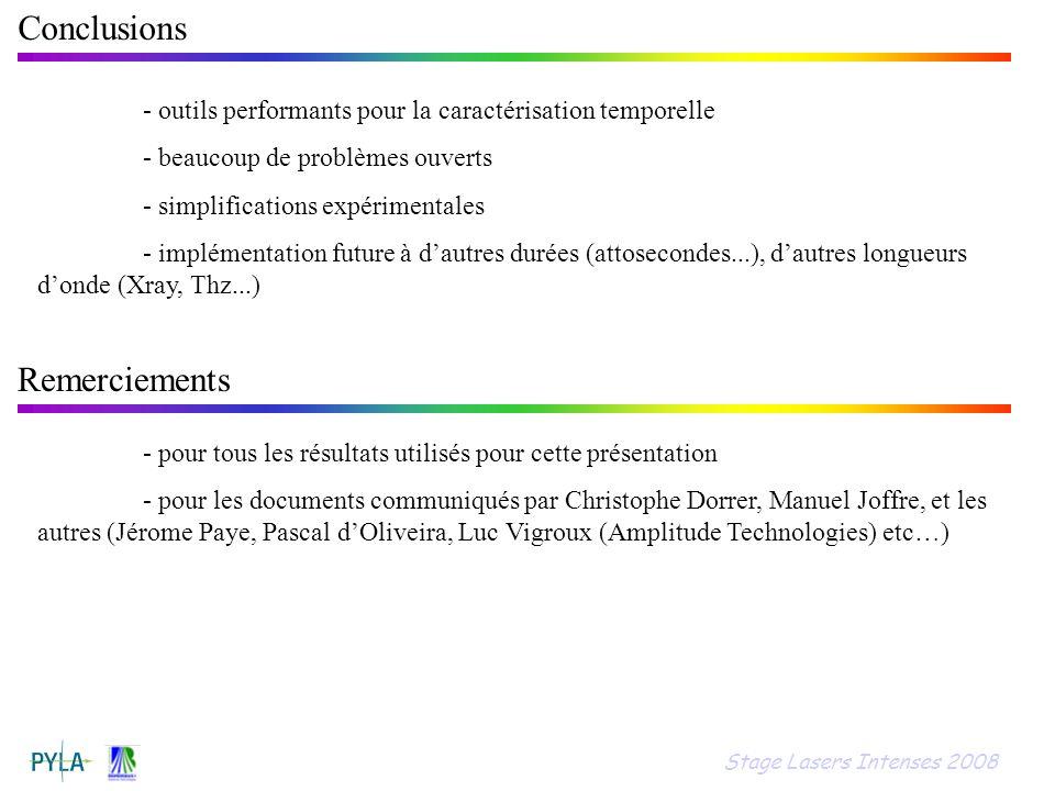 Conclusions Remerciements