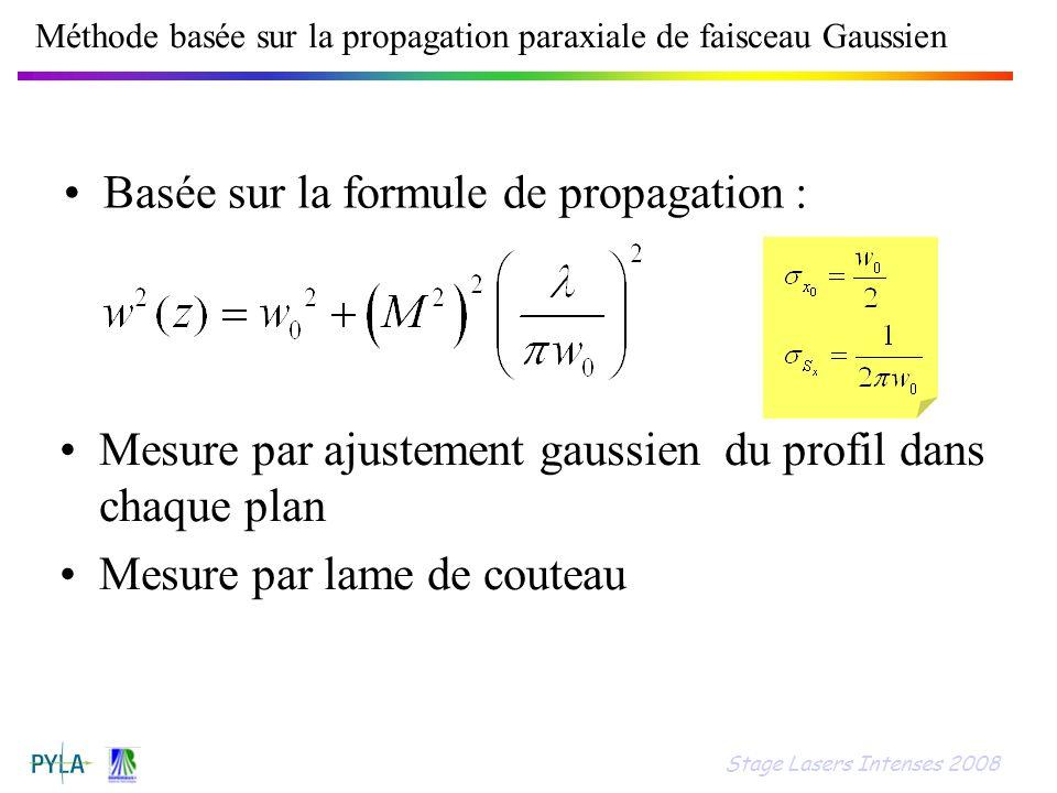 Méthode basée sur la propagation paraxiale de faisceau Gaussien